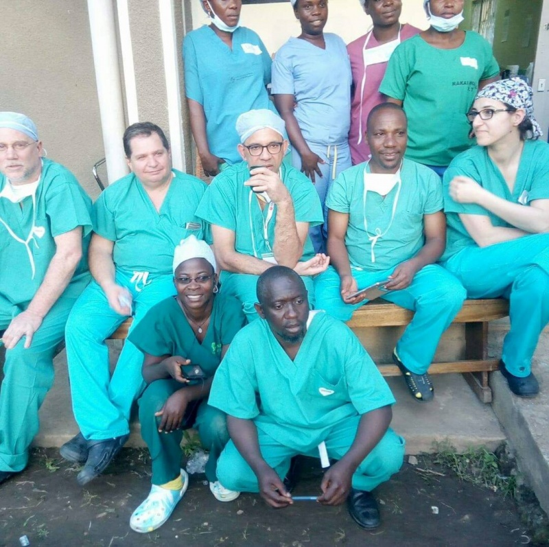 The medical team from Operation International after one of the busy days