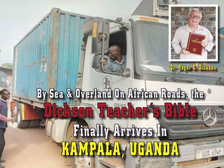 teachers bibles arrive in Kampala